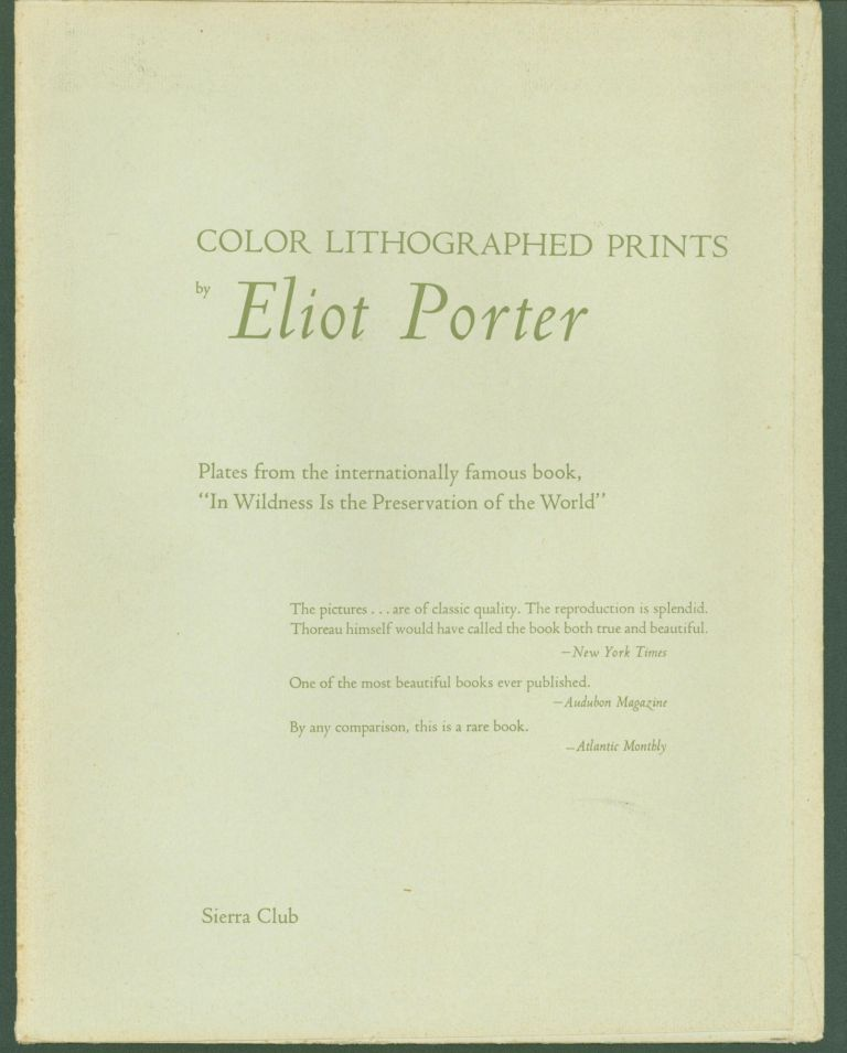 Color Lithographed Prints by Eliot Porter (10 color prints from the book 'In Wilderness Is the Preservation of the World'). Eliot Porter, Sierra Club.
