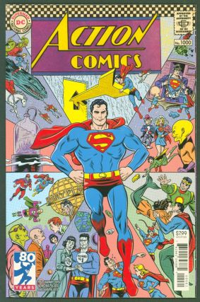 Action Comics #1000 (1960s variant cover by Mike Allred). DC Comics, Peter J. Tomasi Dan Jurgens,...