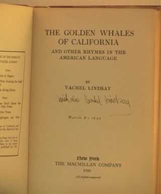 The Golden Whales of California and Other Rhymes in the American anguage