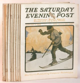Saturday Evening Post. Magazine. 1904. 9 Issues: January 9, January 16, January 23, January 30,...