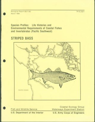Species Profiles: Life Histories and Environmental Requirements of Coastal Fishes and...