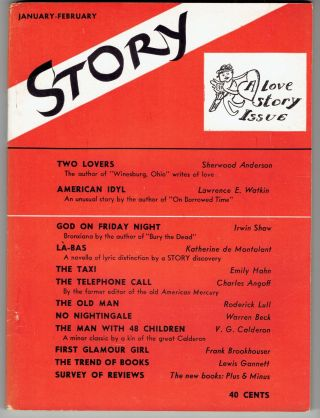 Story: The Magazine of the Short Story (Volume XIV, No. 75, January - February 1939). Whit...