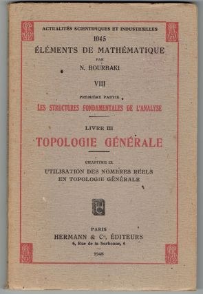 Elements De Mathematique VIII (Livre III). N. Bourbaki