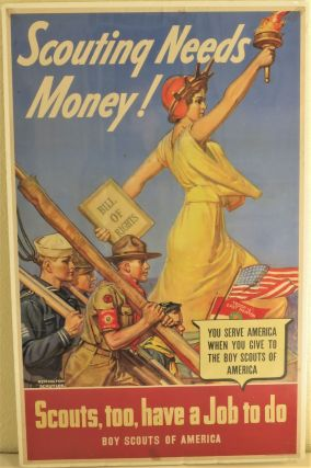 Scouting Needs Money. Scouts, too, have a Job to do. (WWII poster). Remington Schuyler, artist