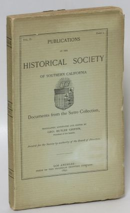 Documents from the Sutro Collection in Publications of the Historical Society of Southern...